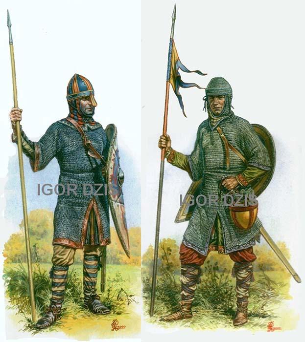 Нормандские рыцари, 11 в.