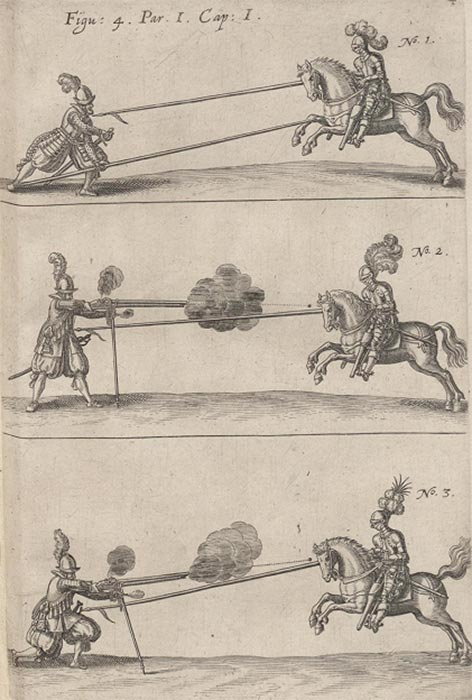 Пикинеры и мушкетеры против конницы начала 17 в.