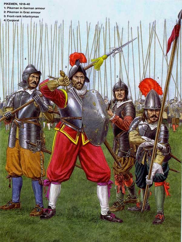 Пикинеры и рондашир имперцев в Тридцатилетнюю войну