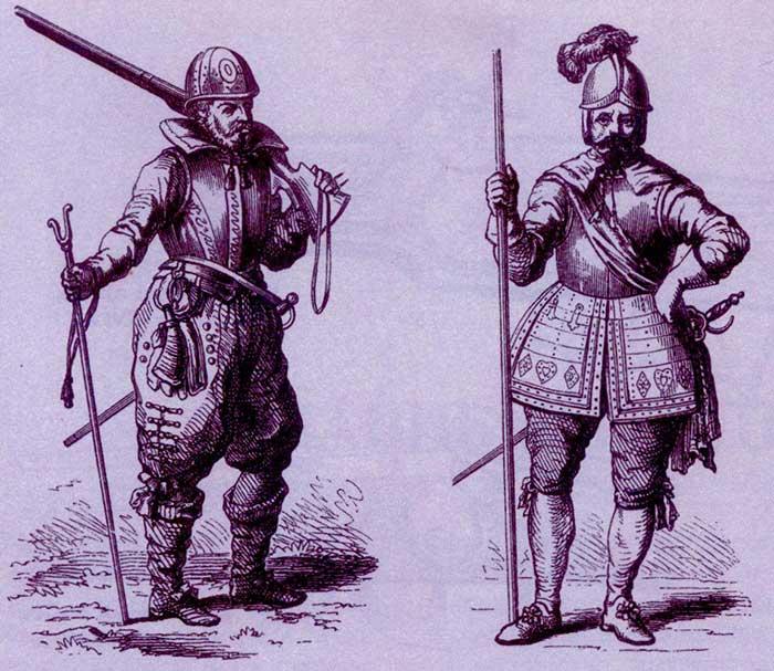 Мушкетер и пикинер Тридцатилетней войны