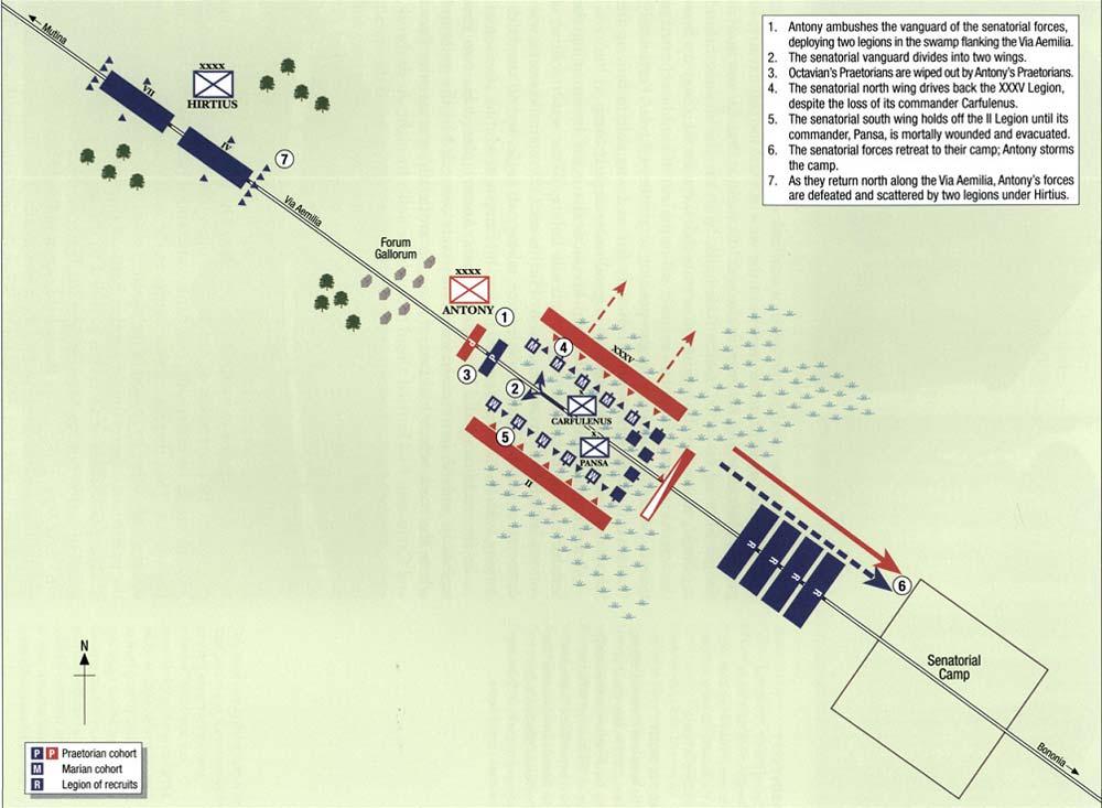 Битва при Форум Галлорум в описании Аппиана