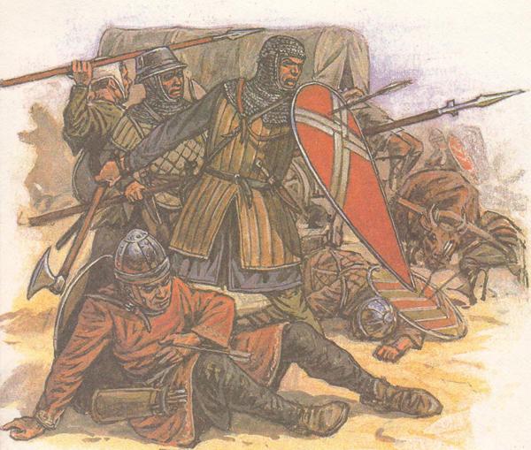 Крестоносцы под атакой сельджуков