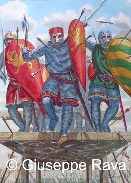 Крестоносцы штурмуют крепость