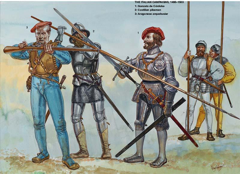 Испанская пехота начала 16 в.