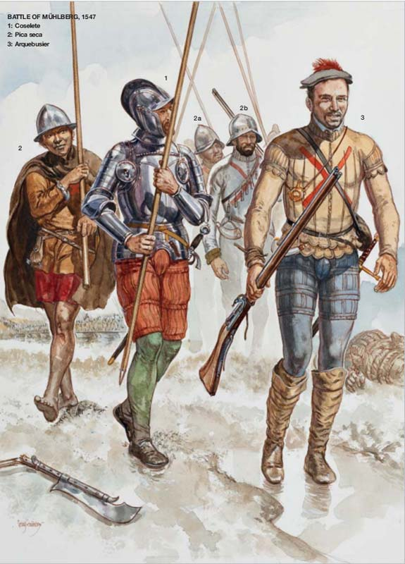 Испанская пехота середины 16 в.