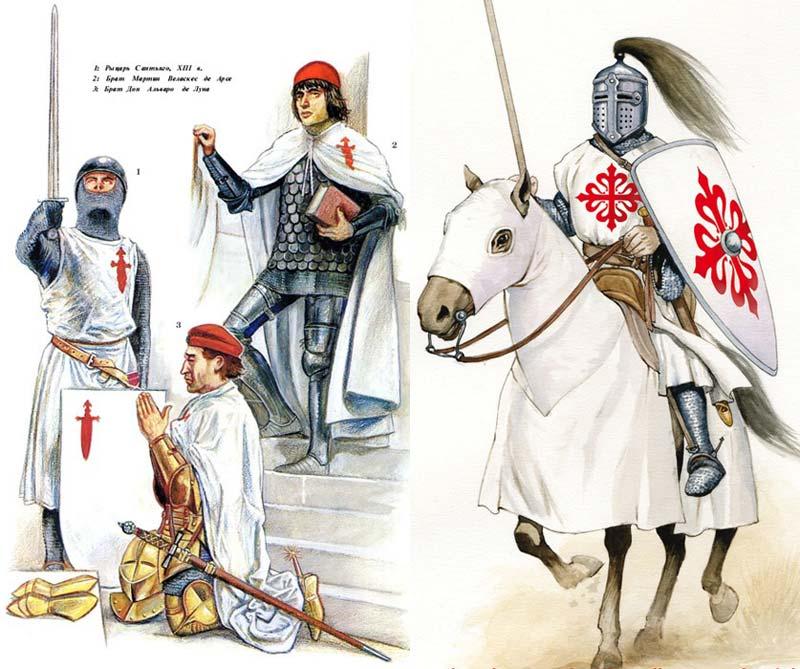Рыцари орденов Сантьяго и Калатравы