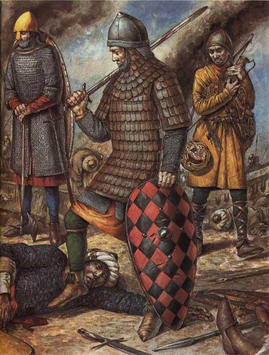 Крестоносец 1 Крестового похода в ламеллярном доспехе