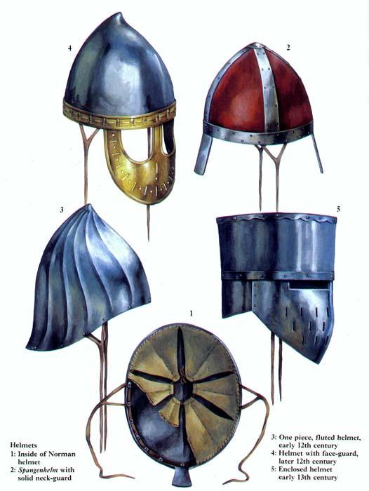 Шлемы 11 - 13 вв.