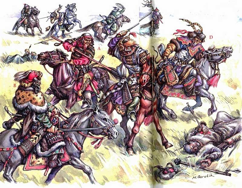 Тэмуджин сражается с татарами
