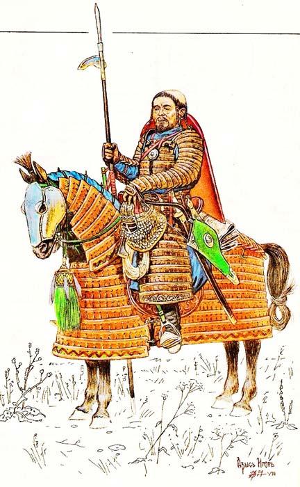 Тяжеловооруженный монгольский всадник