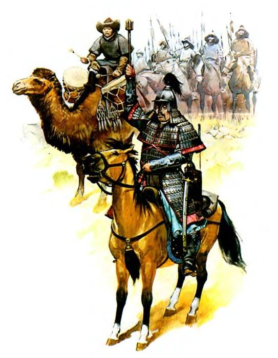 Монгольская армия перед боем