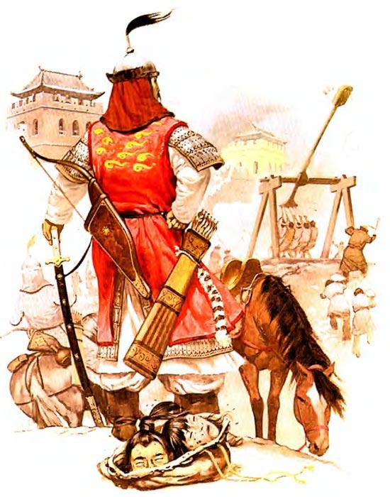 Монголы осаждают город