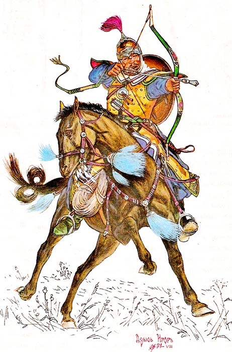 Монгольский конный лучник