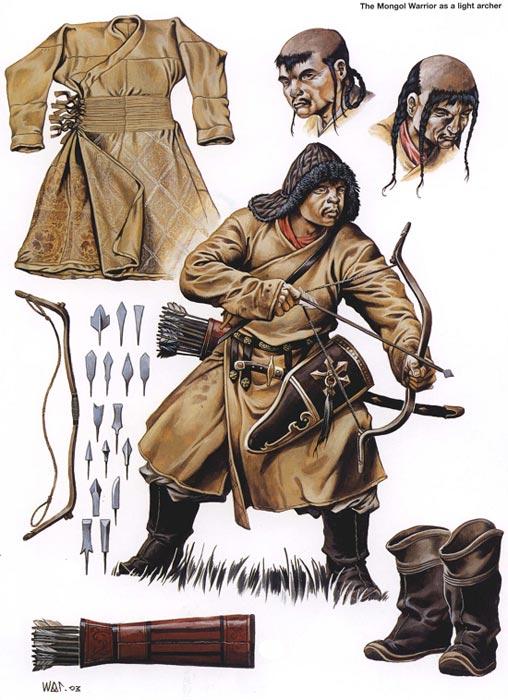 Спешенный монгольский лучник