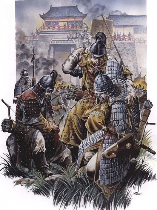 Монголы под стенами крепости