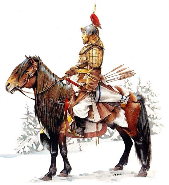 Монгольский воин 13 в.