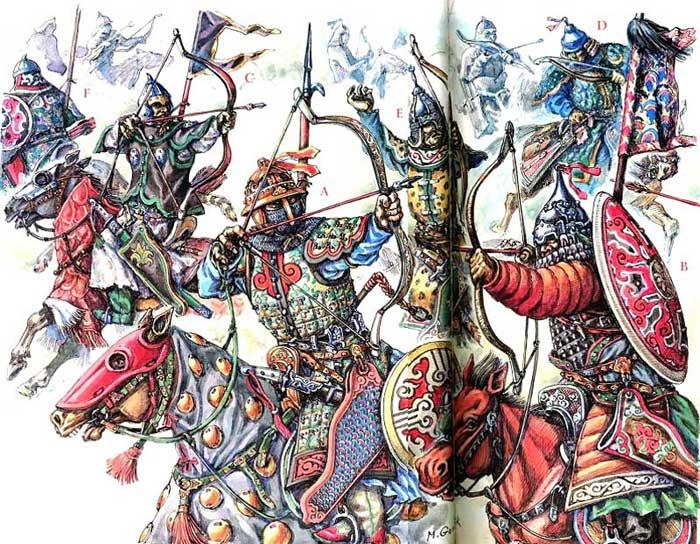 Монголы в бою